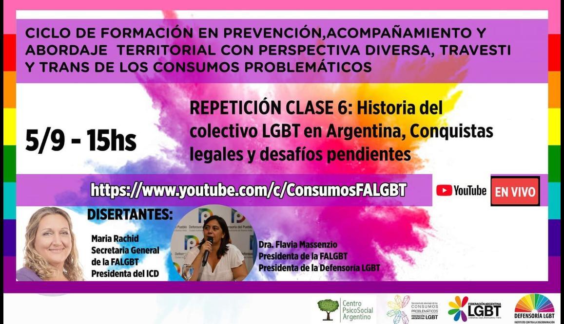 Secretaría de Abordaje de Consumos Problemáticos Federación Argentina LGBT @ConsumosFALGBT  · Servicio comunitario