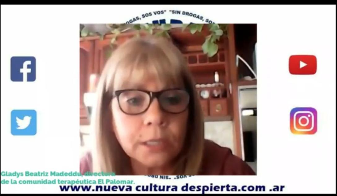 GLADYS MADEDDU NOS CUENTA EL TRABAJO CON LA NIÑEZ DIRECTORA DE LA COMUNIDAD TERAPEUTICA EL PALOMAR