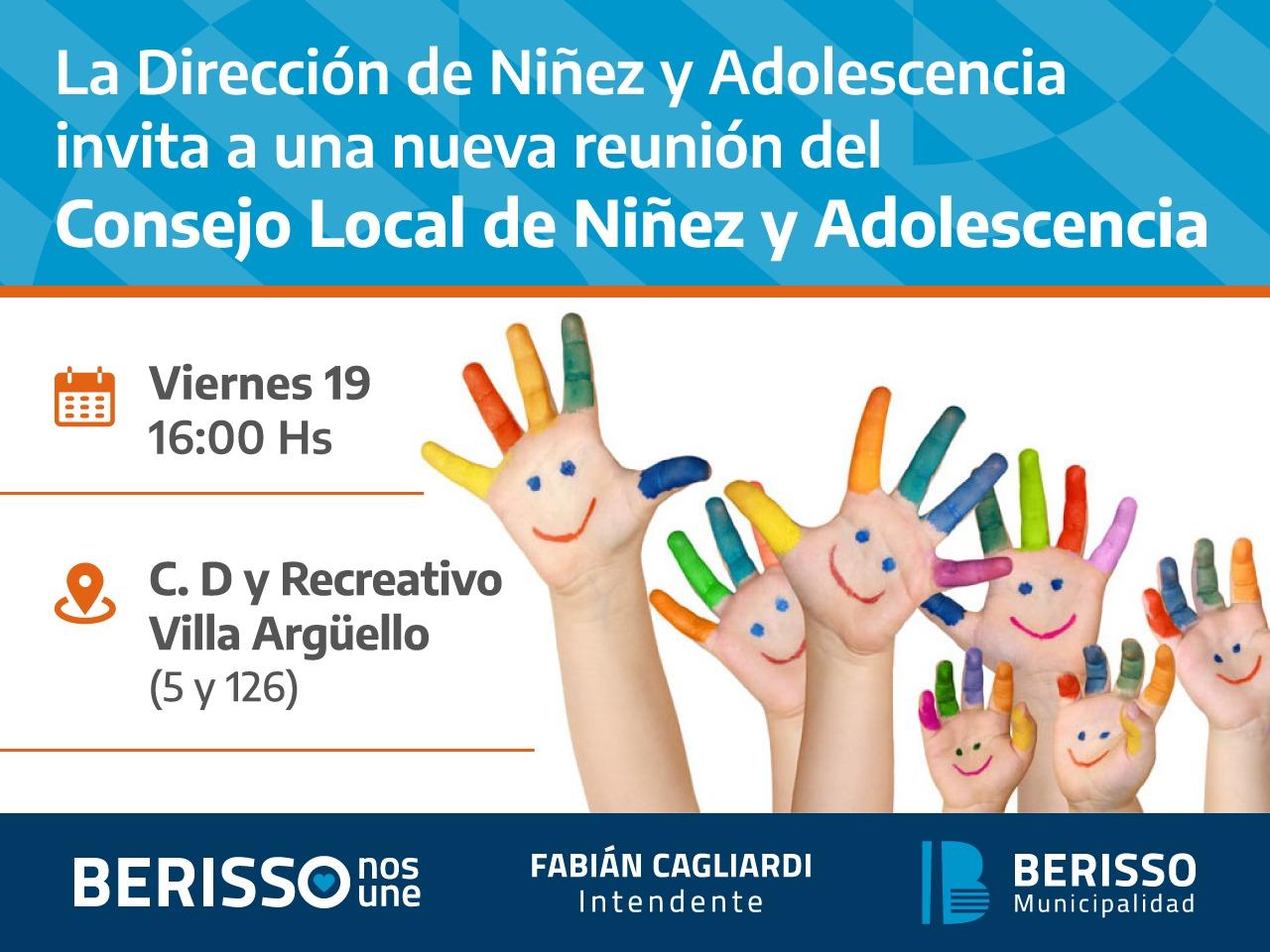 NCD  EN BERISSO , SOMOS PARTE DEL CONSEJO LOCAL DE NIÑEZ Y ADOLESCENCIA