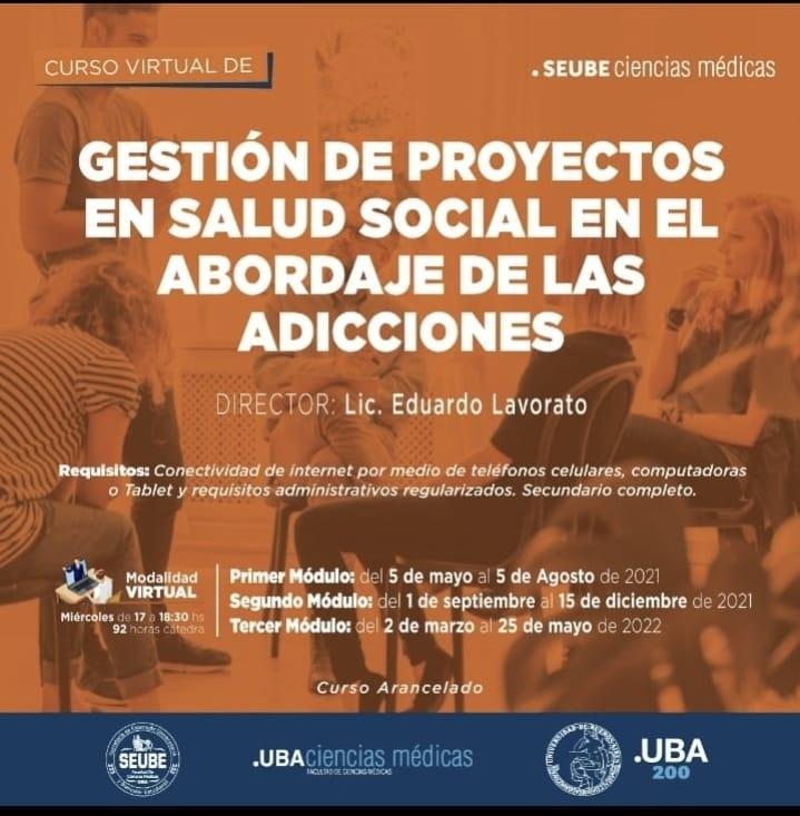 Curso Universitario en Gestión de Proyectos en Salud Social en el abordaje de las adicciones