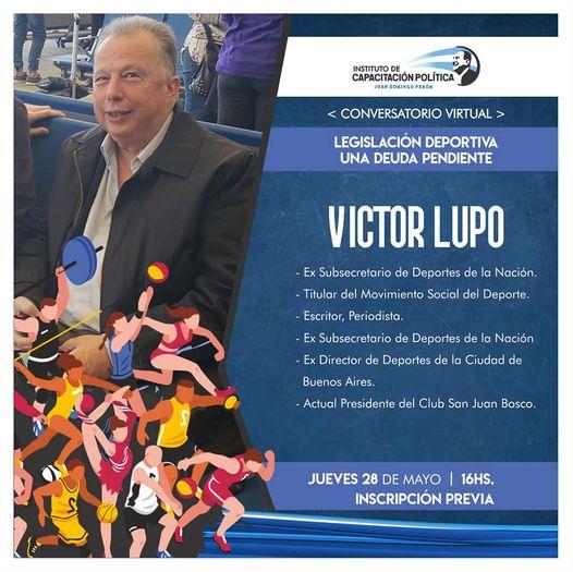 Victor Lupo Titular del Movimiento Social del Deporte