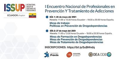 «I Encuentro nacional de profesionales en prevención y tratamiento de adicciones»-Ecuador