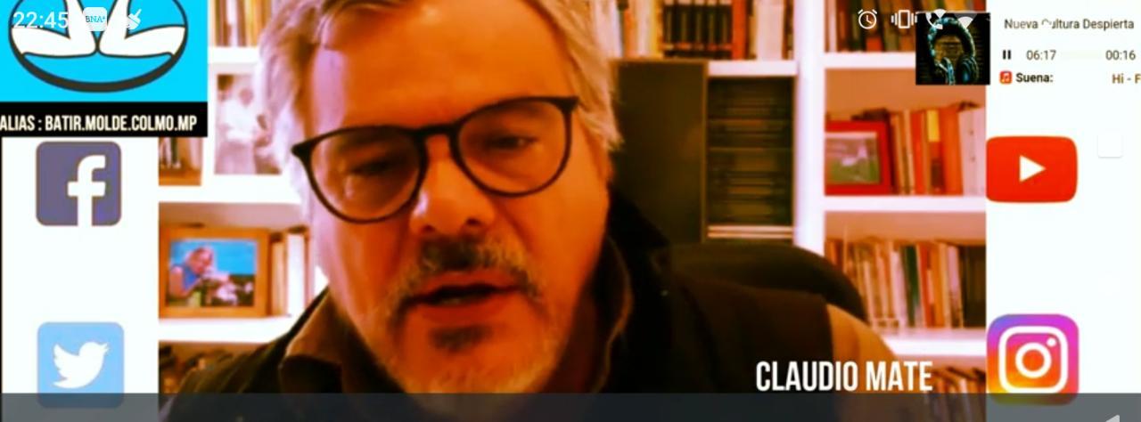 «El consumo de sustancias esta estabilizado , lo que pasa en la argentina no es lo que pasa en el resto del mundo» Claudio Mate